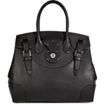 Ralph Lauren Collection Leather Soft Ricky Tote in Black