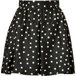 Paule Ka Silk Polka Dot Skirt