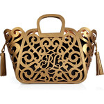 Ralph Lauren Collection Leather Scroll Tote