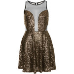 Topshop **Sequin and Mesh Skater Dress by WYLDR