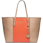 Kabelka Michael Kors jet set travel s pruhy khaki/orange