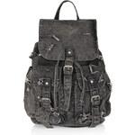 Topshop Ripped Denim Backpack