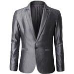 Dablju: Extravagantní pánské sako šedé BJ02-GRAY