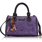 Fialová kabelka s kamínky LS fashion LS7016 fialová
