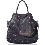 Fialová kabelka s cvoky LS fashion LS00253 fialová