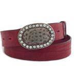 Maxi Fashion Červený opasek M-D10 červená