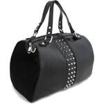 London Style Kabelka stunning barrel s šátkem černá