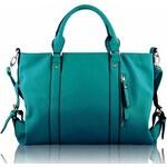 Kabelka LS Fashion LS00172 smaragdová
