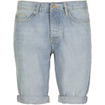 Topman Blue Bleach Wash Denim Shorts