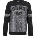 Topman Black Mesh Bronx Snake Printed Sweatshirt