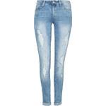 Tally Weijl Blue Destroyed Low Waist Slim Jeans