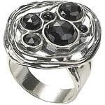 HEINE stříbrný prsten s kamínky 003.485