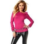 Melrose dámský svetr v růžové barvě i pro plnoštíhlé