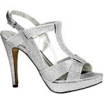 CHILLANY - Heine stříbrné sandály - dámská obuv (sklad v.40)