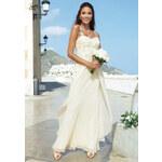 Luxusní svatební nebo společenské šaty v krémové barvě od APART Impressions (sklad v.36,38,40)