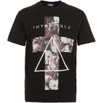 Topman Black Roses Cross T-Shirt