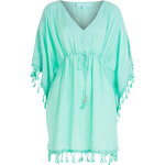 Melissa Odabash Embroidered Caftan with Fringe