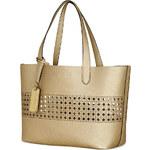 Zlatá kabelka shopper a taštička Ralph Lauren leighton gold ivory