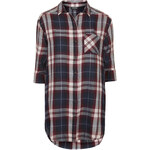 Topshop Oversized Checked Shirt