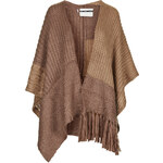 Topshop Chunky Knit Patchwork Cape