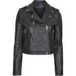 Topshop Neat-Fit Leather Biker Jacket by Boutique
