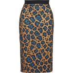 Topshop Leopard Print Scuba Tube Skirt