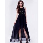 LM moda Nevšední šaty na ples, do tanečních černé