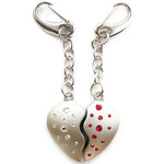 GM Collection Swarovski klíčenka 2 Hearts 785101S