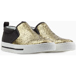 Marc by Marc Jacobs Leather Glitter Slip-On Sneakers