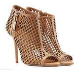 Burberry Shoes & Accessories Peep Toe Laser-Cut Booties