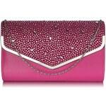 Dámské psaníčko LS Fashion ( LSE00264) - růžová