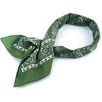 Bavlněný šátek kašmírový vzor Barva: Zelená