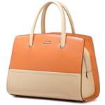 NUCELLE dámská kožená kabelka Lady Orange