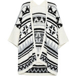 Tally Weijl Cream Knit Aztec Motif Cardigan