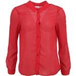 Červená průsvitná košile Vero Moda Winter Bloom