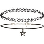 Topshop Star Charm And Tattoo Choker Pack