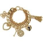 Guess Náramek Gold Tone Multi Chain Bracelet