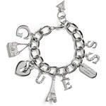 Guess Náramek Silver-Tone Charm Bracelet