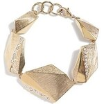Guess Náramek Gold Tone Faceted Geometric