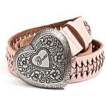 Guess Pásek Laced Heart Belt růžový, velikost L