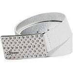 Guess Pásek Rhinestone Plaque Belt bílý, velikost L