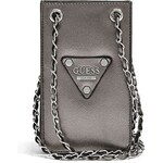 Guess Kabelka Chit Chat Pewter Smartphone Cross-Body