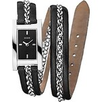 Guess Hodinky GUESS Double wrap chain leather černé