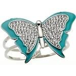 Guess Náramek Butterfly Bangle modrý