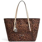 Guess Kabelka Delaney Leopard-Print Small Classic Tote