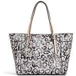 Guess Kabelka Delaney Snow Leopard-Print Small Classic Tote
