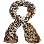 Guess by Marciano Šátek Leopard-Print Chain Scarf