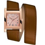 Guess Hodinky Rose Gold Tone and Cognac Enduring Chic