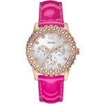 Guess Hodinky Pink And Rose Gold-Tone Shimmering Sport Watch