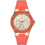 Guess Hodinky Coral and Gold Tone Feminine Sport